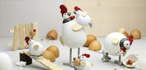 Hühnerei und Hahn l Serie: Das Familienglück