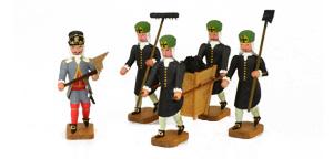 Barockbergleute um 1719 - Werner Figuren