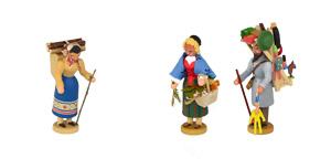Händlerfiguren und Volkstypen - Werner Figuren