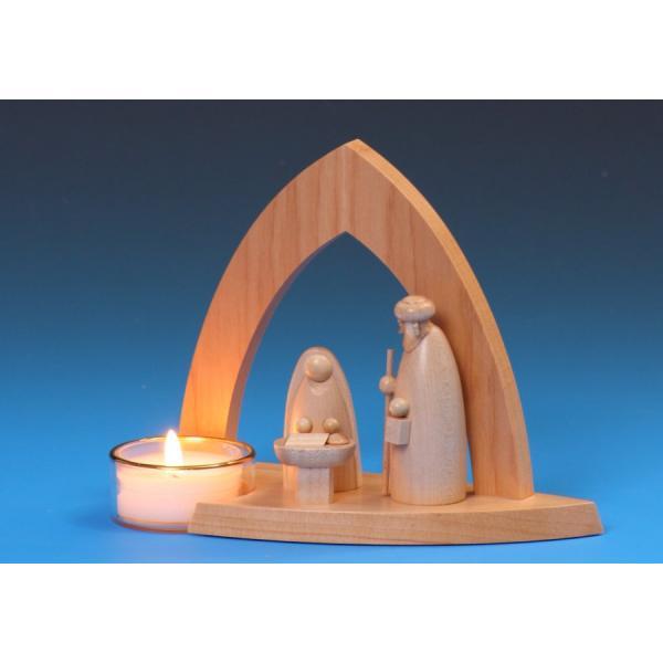 Schalling - Leuchter Bogenkrippe mit Heiliger Familie & Teelicht