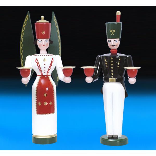 Schalling - Lichterengel und Bergmann, 29 cm farbig