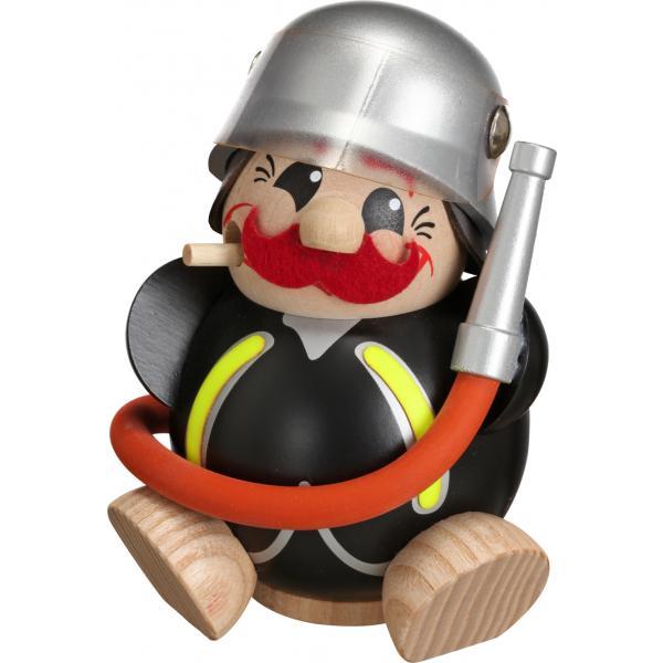 Seiffener Volkskunst eG - Kugel - Räuchermann Feuerwehrmann
