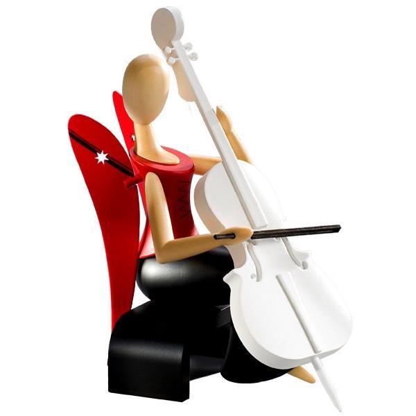 Kollektion Sternkopf - Engel mit Cello sitzend