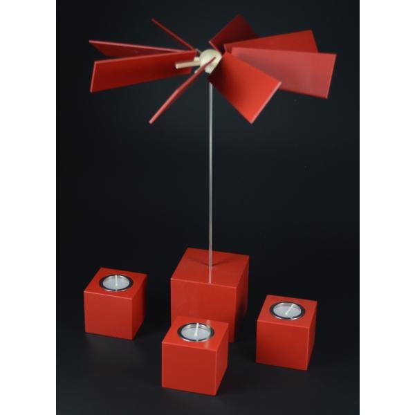 Rauta Edition FG  - moderne Würfelpyramide -Alea- rot