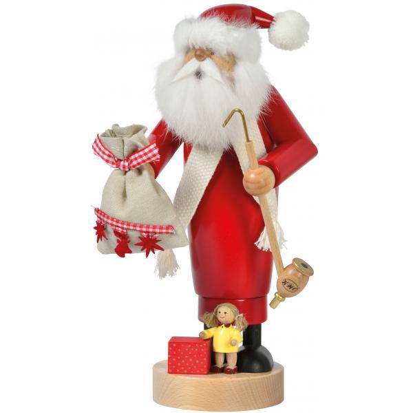 KWO - Räuchermann Weihnachtsmann mit Puppe