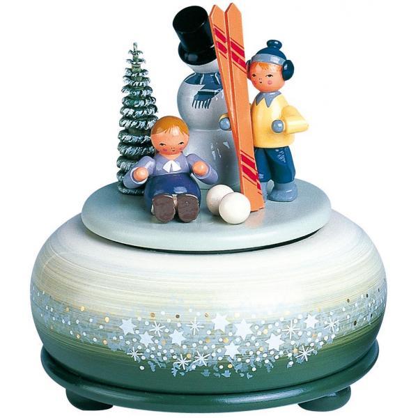 KWO - Spieldose, klein -Winterfreuden/Ski