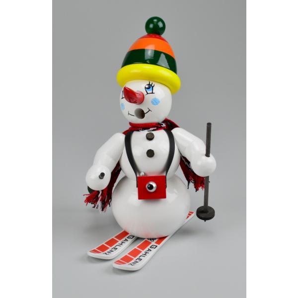 Gahlenz - Räuchermännchen Schneemann mit Ski