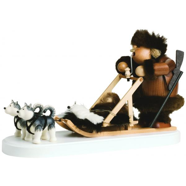 KWO - Räuchermann Eskimo mit Hundeschlitten