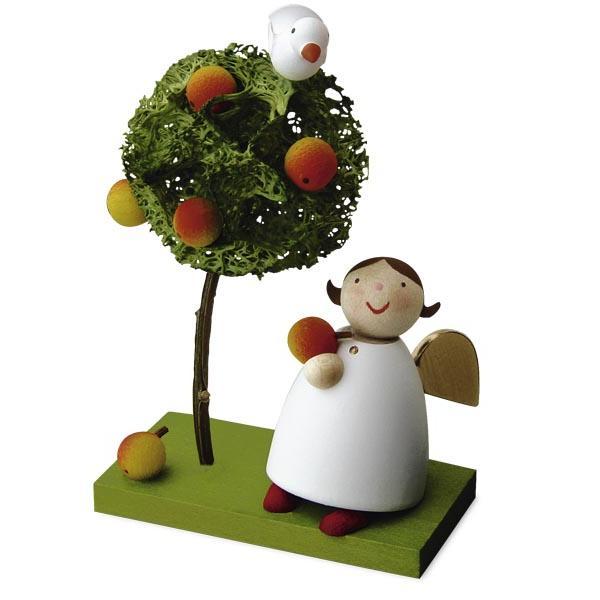 Günter Reichel - Schutzengel mit Apfel und Apfelbäumchen