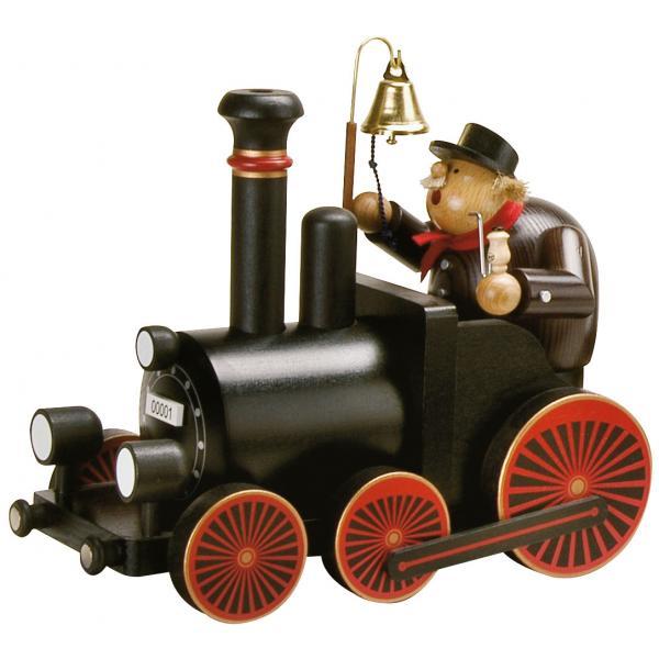 KWO - Räuchermann Lokführer mit Lokomotive