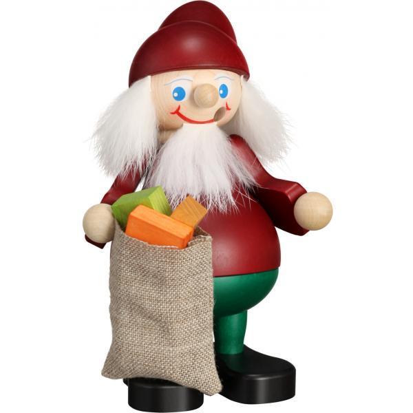 Seiffener Volkskunst eG - Räuchermann Weihnachtsheinzel mit Sack