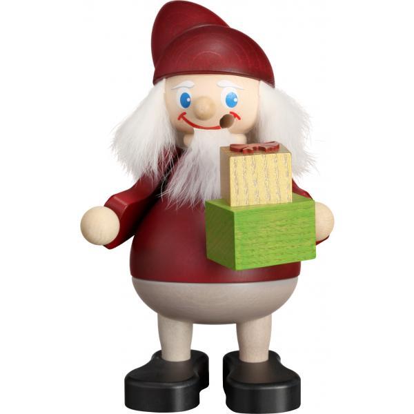 Seiffener Volkskunst eG - Räuchermann Weihnachtsheinzel mit Geschenk