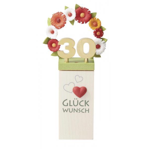 Günter Reichel - Glückwunschsockel Blumenkranz