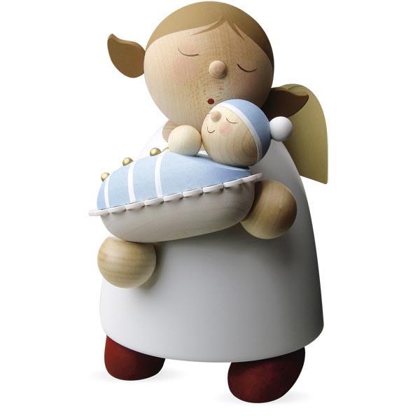 Günter Reichel - Schutzengel mit Baby - Junge Größe 5 (16 cm)
