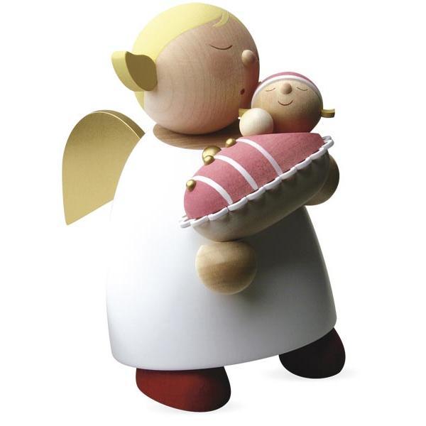 Günter Reichel - Schutzengel mit Baby - Mädchen Größe 5 (16 cm)