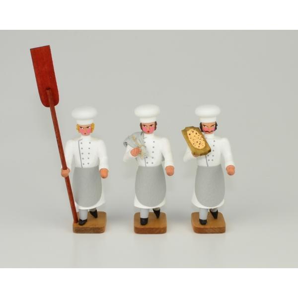 Walter Werner - 3 Bäckergesellen mit Stollenschieber, Mehlsack und Trog