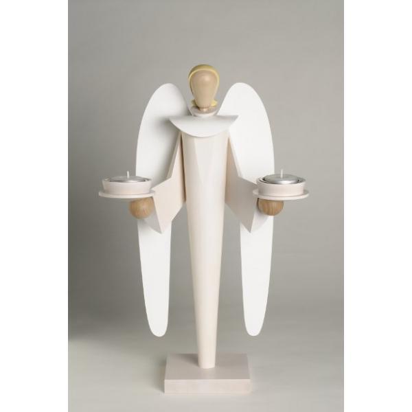 KWO - moderner Engel weiß, für Teelichter