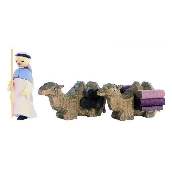 Ulmik - 1Treib und 2liegend Kamele 3-teilig gebeizt