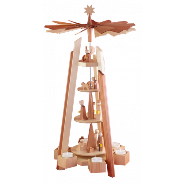 Ulmik - MODERN LINE Pyramide Geburt 4-st. Natur