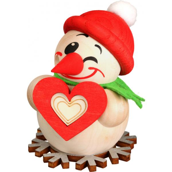 Seiffener Volkskunst eG - Kugelräucherfigur klein Cool Man mit Herz, 8cm