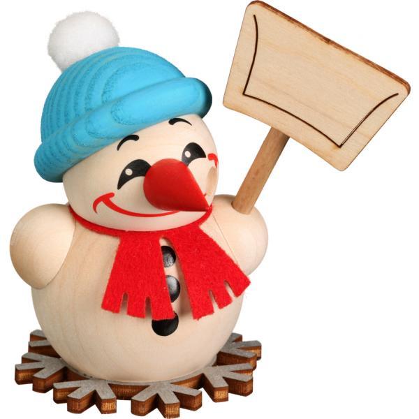 Seiffener Volkskunst eG - Kugelräucherfigur klein Cool Man Schneeschipper, 9cm