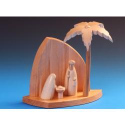 Schalling - Felsenkrippe mit Heiliger Familie und Palme