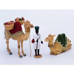 Walter Werner -  2 Kamele mit Korb und Treiber