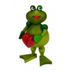 Drechslerei Martin - Frosch Frederike mit Herz