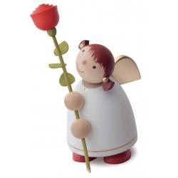 Günter Reichel - Schutzengel mit Rose, weiss