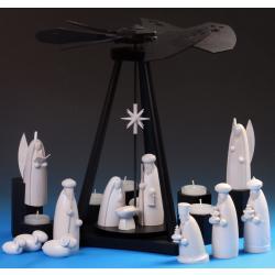 Schalling - Black Delta Pyramide -Heilige Nacht- mit Krippenfiguren