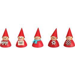 Seiffener Volkskunst eG - Weihnachts-Wippel, 5er Satz