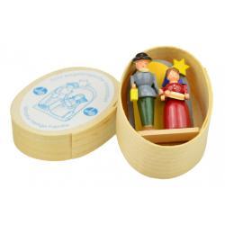 Wolfgang Braun - Miniatur in Spandose mit Christi Geburt