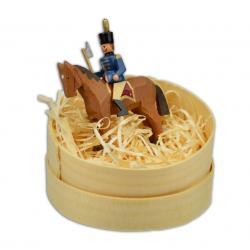 Wolfgang Braun - Miniatur in Spandose Hüttengeschworener auf braunen Pferd