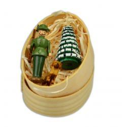 Wolfgang Braun - Miniatur in Spandose Förster mit Hund