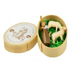 Wolfgang Braun - Miniatur in Spandose Hirte mit Schafen