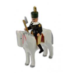 Wolfgang Braun - Miniatur Berghauptmann auf weißem Pferd