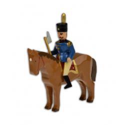 Wolfgang Braun - Miniatur Hüttengeschworener auf braunem Pferd