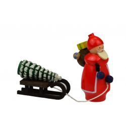 Wolfgang Braun - Miniatur Weihnachtsmann mit Schlitten