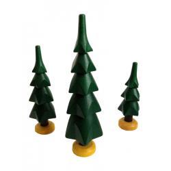 Spielwarenmacher Günther - 3er Satz Bäume grün