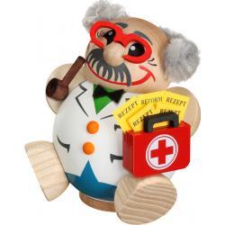 Seiffener Volkskunst eG - Kugel - Räuchermann Arzt