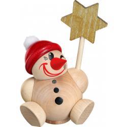 Seiffener Volkskunst eG - Kugel - Räuchermann Cool Man Vario mit  roter Mütze