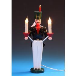 Schalling - Lichterengel und Bergmann, elektrisch beleuchtet, 36 cm farbig