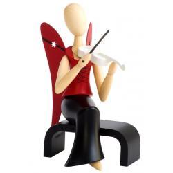Kollektion Sternkopf - Engel mit Geige sitzend