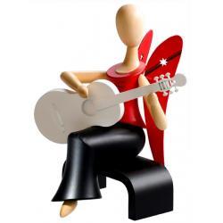 Kollektion Sternkopf - Engel mit Gitarre sitzend