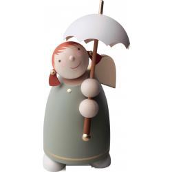 Günter Reichel - Schutzengel mit Schirm, Grün