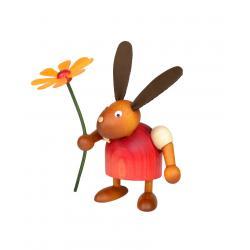 Drechslerei Martin - Hase mit Blume rot, klein