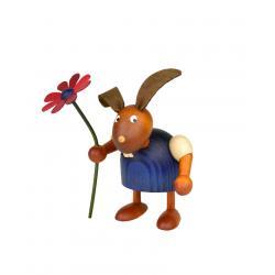 Drechslerei Martin - Hase mit Blume blau, klein