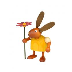 Drechslerei Martin - Hase mit Blume gelb, klein