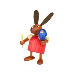 Drechslerei Martin - Hase mit Pinsel und Ei rot, klein