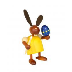 Drechslerei Martin - Hase mit Pinsel und Ei gelb, klein